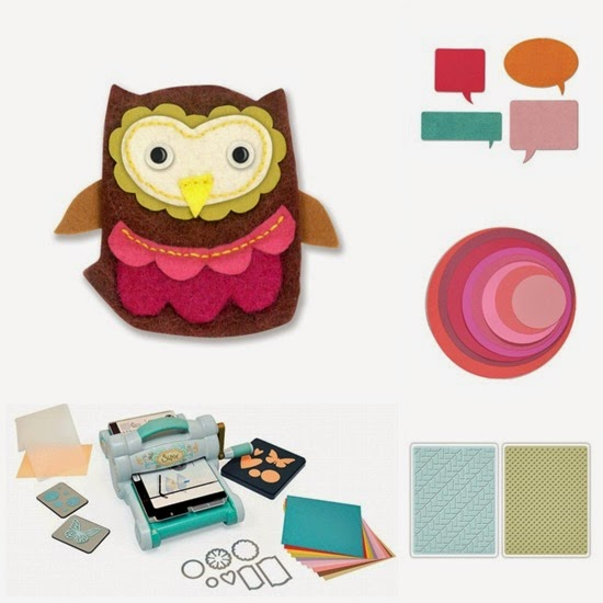 cafe creativo - fustelle sizzix big shot - owl gufo