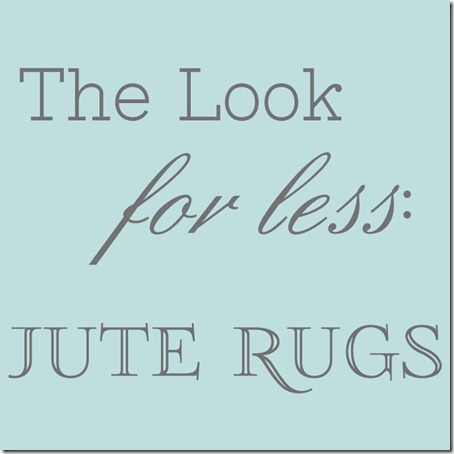 Look for Less Logo - Jute Rugs