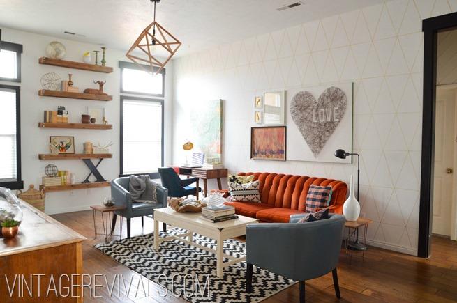 Living Room Makeover @ Vintage Revivals