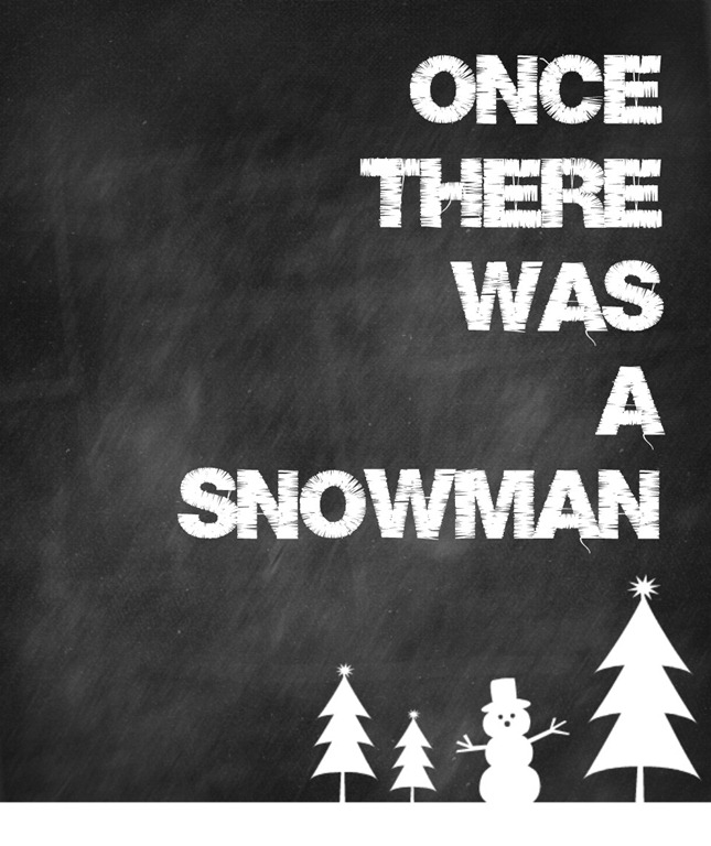 once there was a snowman big file