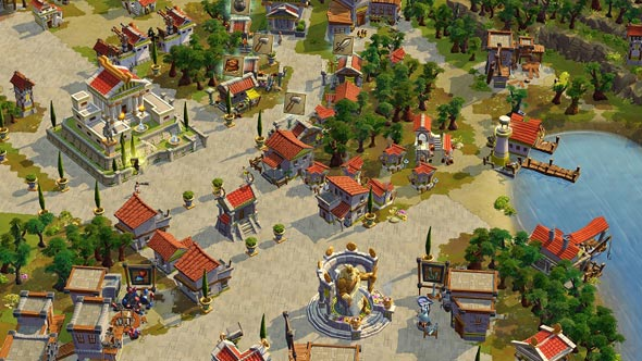 Uma capital em age of empires on-line.