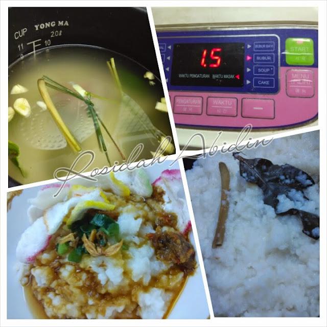 cara membuat bubur dengan rice cooker yong ma