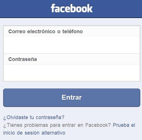 facebook cerrado en el iphone