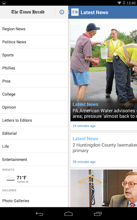 The Times Herald for Android - screenshot