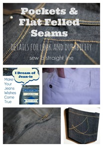 pockets flat felled seams sew a straight line jeans