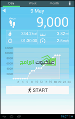 تطبيق عد الخطوات والمسافة والسعرات الحرارية للأندرويد Pedometer -4
