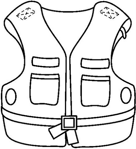 Life Vest Colouring Pages Page 2