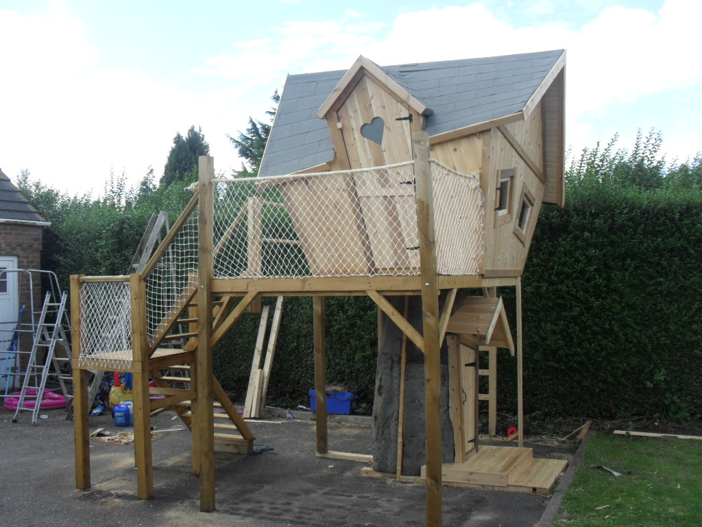 Tree House Platform Play Enchanted Creations Playhouses