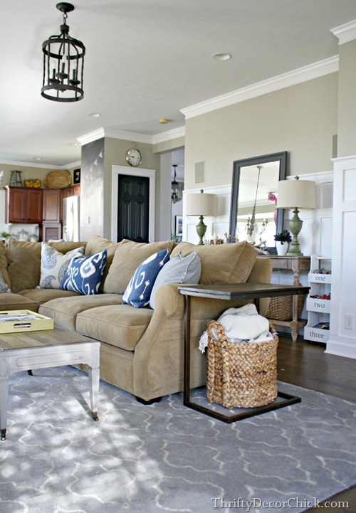 small sectional family room