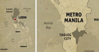 Taguig City Location Map
