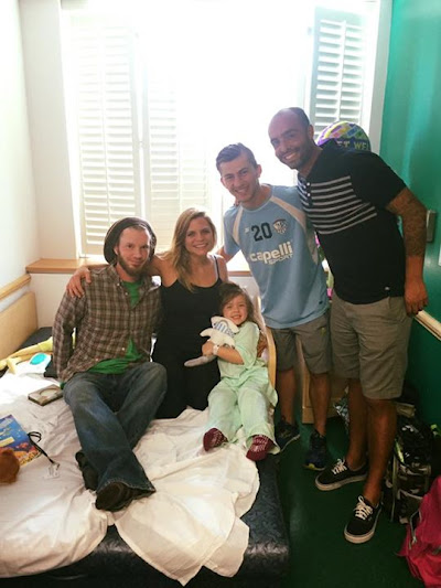 We had such a great time visiting with the pediatric patients at