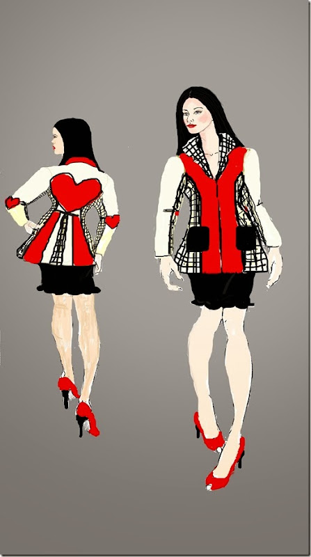 front and back febuary coat illustration view 2