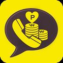 카톡보이스콜-무료안심전화,돈버는어플 icon