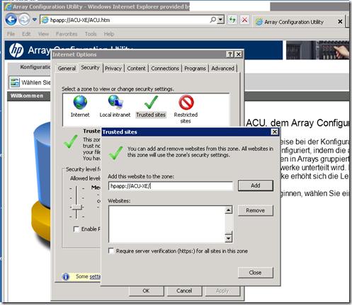 Information Transmogrification: HP Array Configuration Utility (ACU