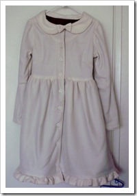 White Fleece Dress Coat