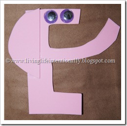 E is for Elephant foam craft for preschoolers
