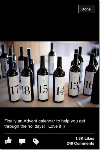 Adventskalender, vin