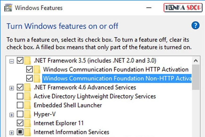 cài đặt net framework 3.5 tren windows 10