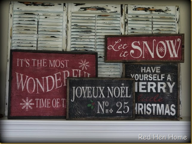 Red Hen Home Christmas Signs 2