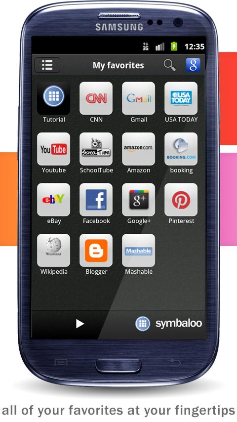 Symbaloo- screenshot