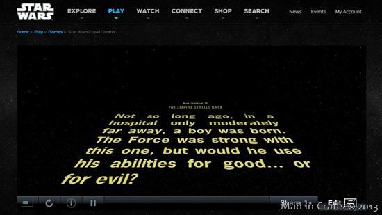 Star Wars Crawl Video Birthday Invitation Mad In Crafts