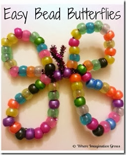 Easy Bead Butterflies from Where Imagination Grows