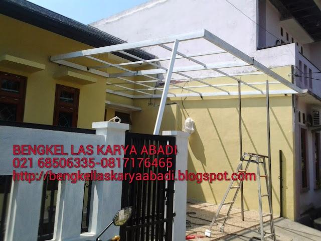 canopi minimalis atap spandek