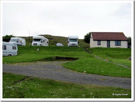 Staffin Caravan Park, Isle of Skye.