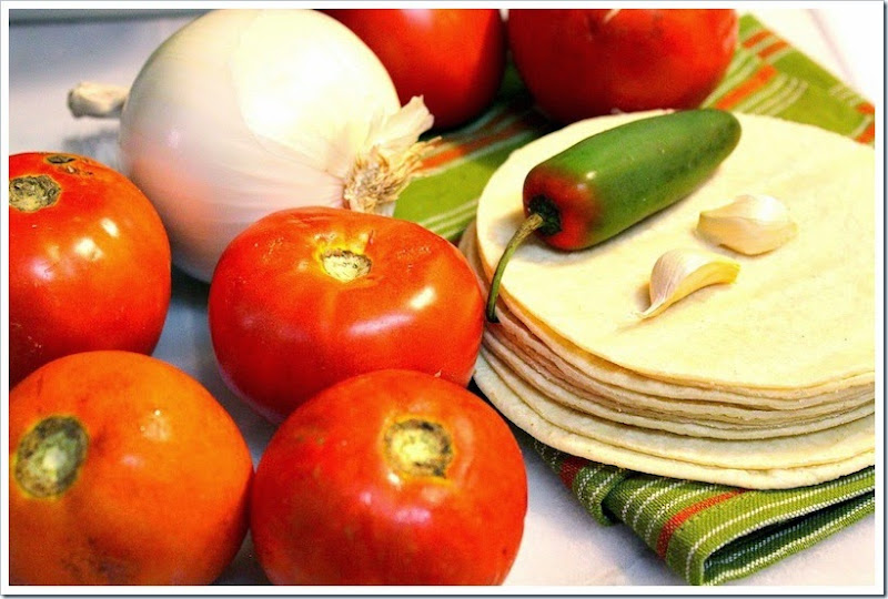Entomatadas, corn tortillas covered