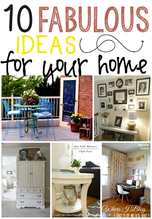 10 Fabulous Ideas for Your Home at GingerSnapCrafts.com #linkparty #features_thumb[6]