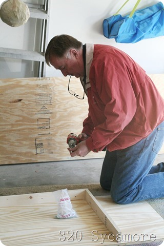 dad building shelf