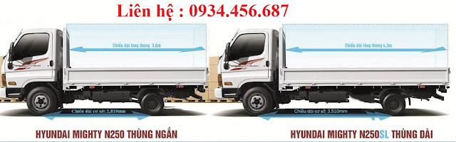 sụ khac nhau giua xe hyundai mighty n250 và new mighty n250sl