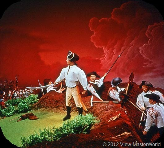 View-Master The Revolutionary War (B810), Scene A6: Battle of Bunker Hill, 1775
