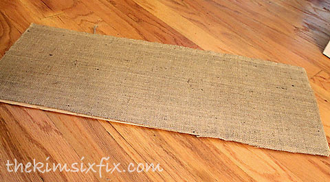 Burlap backed photo frame