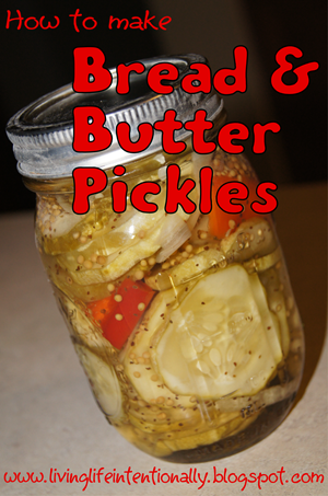 How to make Bread & Butter Pickles #recipes #gardening #realfood
