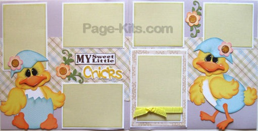 scrapbook page kit idea my little chicks pk 500