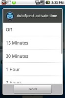 Screenshot of HandsFree SMS