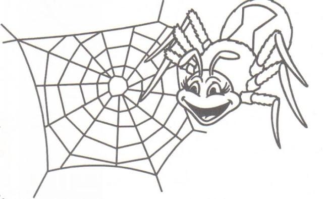 Arañas De Halloween Para Colorear: COLOREAR DIBUJOS DE ARAÑAS