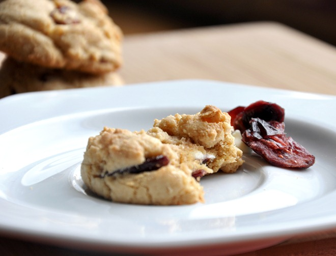 cranberry white chocolate chip cookies 173