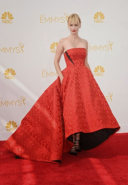 January Jones attends the 66th Annual Primetime Emmy Awards