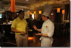 chatting with chef Liang