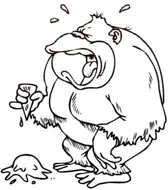 Gorilas Dibujos Para Colorear