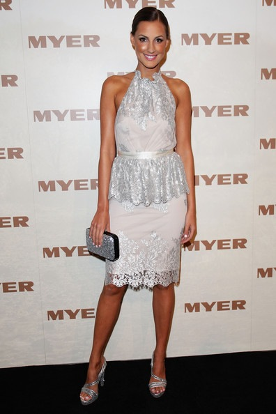 Laura Dundovic arrives at the MYER Spring Summer 2013 Collection Fashion Launch
