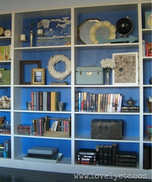 bookshelf focal point