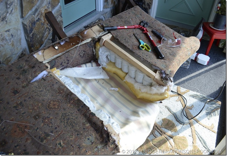 cut a couch in half, how to make a large couch small