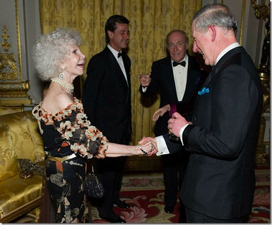 LONDON - FEBRUARY 1:  Prince Charles, Prince of Wales, President of The Prince's Foundation for Children and the Arts talks with The Duchess of Alba at a charity gala dinner and theatrical performance for supporters of the The Prince's Foundation for Children and the Arts at Buckingham Palace on February 1, 2011 in London, England.  (Photo by Arthur Edwards/WPA Pool/Getty Images)