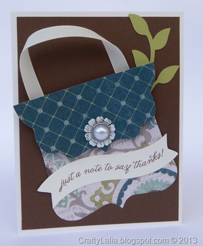 Avonlea WOTG CTMH using Art Philosophy and Artiste Cricut purse Card  A friend like you stamp set B1410
