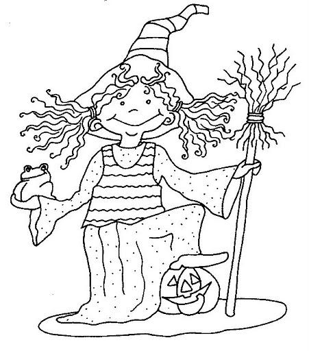 Brujas Dibujos Para Colorear