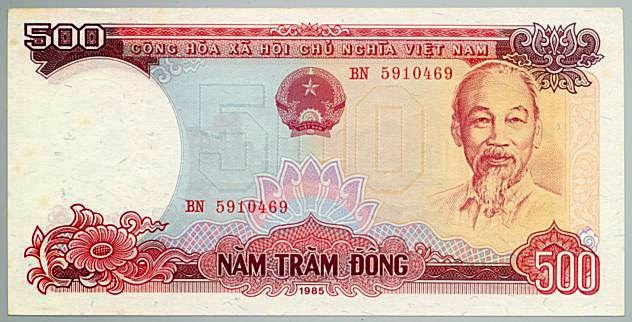 Tờ 500 Đồng Việt Nam Năm 1985