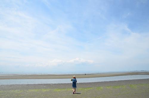 南知多ビーチランドの裏の海岸